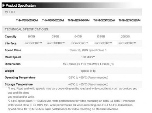 Toshiba M203 sd-карта памяти для видеорегистраторов